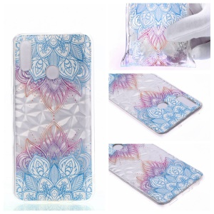 Embossed Pattern 3D Diamond Texture Soft TPU Back Case for Huawei P10 Lite / P Smart (2019) / Nova Lite 3 (Japan) - Two Mandalas