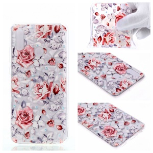 Embossed Pattern 3D Diamond Texture Soft TPU Back Case for Huawei P10 Lite / P Smart (2019) / Nova Lite 3 (Japan) - Vivid Flowers