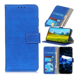 Crocodile Texture Leather Wallet Stand Case for Huawei Honor 20 Lite - Baby Blue
