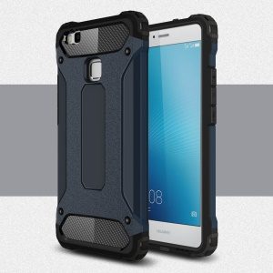 Plastic + TPU Armor Guard Shield Cover for Huawei P9 Lite / G9 Lite - Dark Blue