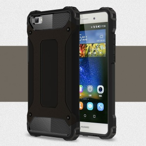 Armor Guard Plastic & TPU Hybrid Case for Huawei Ascend P8 Lite - Black