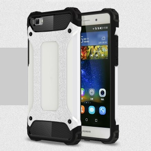 Armor Guard Plastic & TPU Combo Cover for Huawei Ascend P8 Lite - White