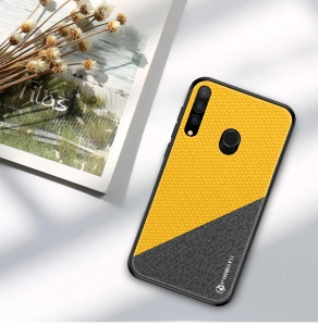 PINWUYO Honorable Series PU Leather Coated PC + TPU Hybrid Casing for Huawei P Smart Plus 2019/Enjoy 9s/Honor 20i/Honor 10i/Honor 20 Lite - Yellow