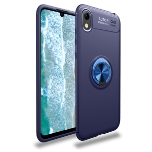 Finger Ring Kickstand TPU Case (Built-in Magnetic Metal Sheet) for Huawei Y5 (2019) / Honor 8S - Blue