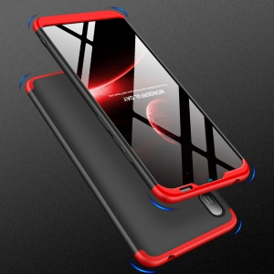GKK Detachable 3-Piece Matte Hard PC Case for Huawei Y6 (2019, without Fingerprint Sensor) / Y6 Pro (2019) / Enjoy 9e - Red / Black