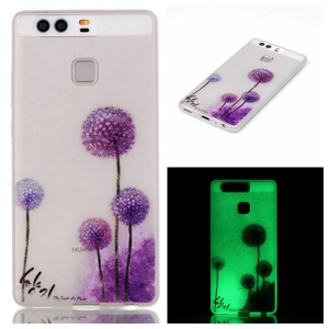 Luminous TPU Phone Case for Huawei P9 - Purple Dandelion