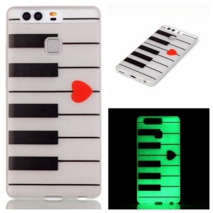 Luminous TPU Phone Back Shell Case for Huawei P9 - Piano