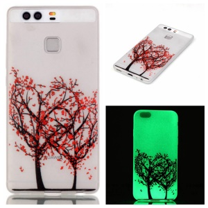 Luminous TPU Phone Case for Huawei P9 - Heart-shaped Tree