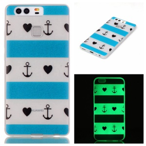 Luminous TPU Protective Case for Huawei P9 - Anchor and Love