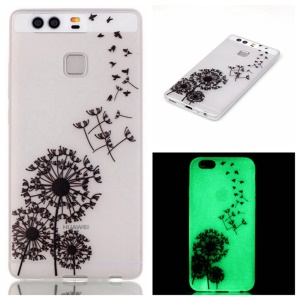 Luminous TPU Phone Case for Huawei P9 - Flying Dandelion