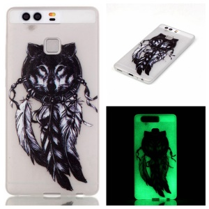 Luminous TPU Phone Case for Huawei P9 - Wolf and Dream Catcher