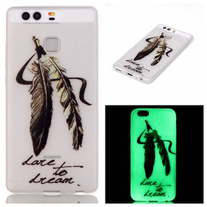 Luminous TPU Phone Case for Huawei P9 - Feather