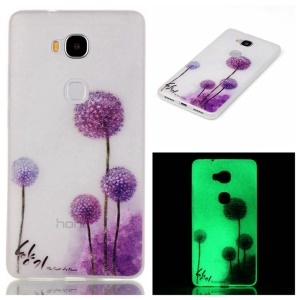 Luminous TPU Back Cover for Huawei Honor 5X/Honor Play 5X - Dandelion