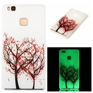 Noctilucent Soft TPU Case for Huawei P9 Lite - Heart Shape Tree