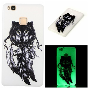Noctilucent Soft TPU Case for Huawei P9 Lite - Dream Catcher and Wolf