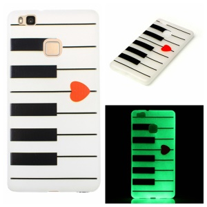 Noctilucent Soft TPU Case for Huawei P9 Lite - Piano Keys