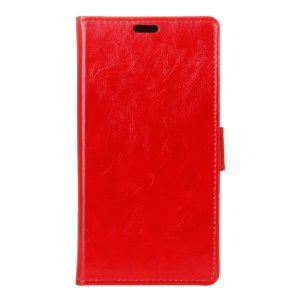Crazy Horse Wallet Leather Phone Case for Huawei Y5II / Y5II - Red