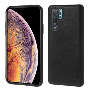 X-LEVEL Vintage Style PU Leather Coated TPU Mobile Phone Case for Huawei P30 - Black