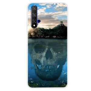 Pattern Printing TPU Case for Huawei Honor 20S / Honor 20 - Skull