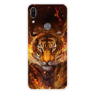 Pattern Printing TPU Case for Huawei P Smart Z - Tiger