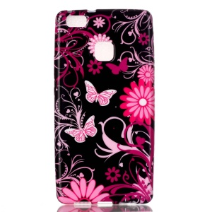 Patterned TPU Cover for Huawei P9 Lite / G9 Lite - Butterflies and Flowers