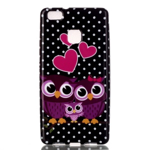 Patterned TPU Skin Case for Huawei P9 Lite / G9 Lite - Owls and Hearts