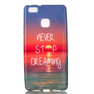 Patterned TPU Phone Case for Huawei P9 Lite / G9 Lite - Quote Never Stop Dreaming