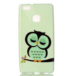 Patterned TPU Phone Cover for Huawei P9 Lite / G9 Lite - Sleeping Owl on the Branch