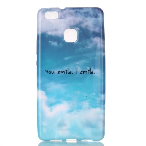Patterned Soft TPU Case for Huawei P9 Lite / G9 Lite - You Smile I Smile Pattern