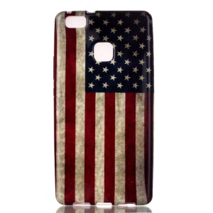 Patterned TPU Case Protector for Huawei P9 Lite / G9 Lite - Retro American Flag