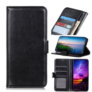 Crazy Horse Leather Wallet Case for Huawei Honor 20 Pro - Black