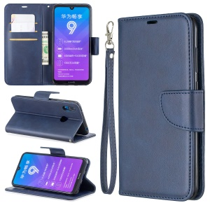 PU Leather Wallet Stand Phone Cover for Huawei Y7 (2019) / Y7 Prime (2019) - Blue