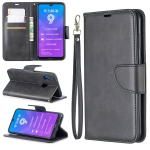 PU Leather Wallet Stand Phone Cover for Huawei Y7 (2019) / Y7 Prime (2019) - Dark Grey