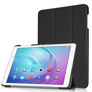 Tri-fold Stand Leather Smart Case for Huawei MediaPad T2 10.0 Pro - Black