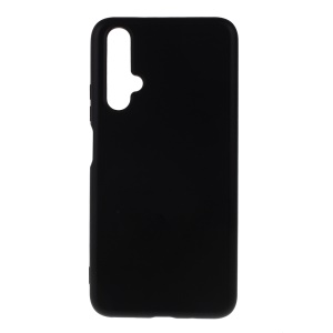 All-wrapped Liquid Silicone Soft Phone Casing for Honor 20/Honor 20S - Black