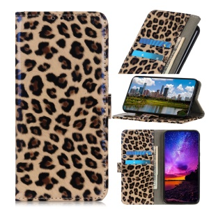 Leopard Texture Wallet Leather Phone Shell for Huawei Honor 20