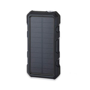 20000mAh Wireless Solar Power Bank Dual USB 18W PD Fast Charging (Not Support FOD Function) - Black