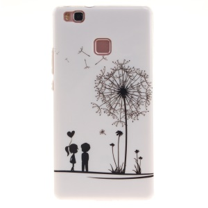 IMD TPU Back Protective Case for Huawei P9 Lite - Dandelion and Lover
