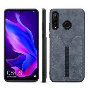 PU Leather Coated TPU Protective Phone Case for Huawei P30 Lite - Grey