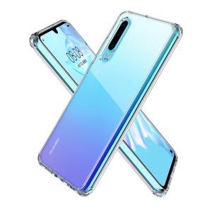 LEEU DESIGN Clear Shockproof Acrylic Phone Cover Case for Huawei P30