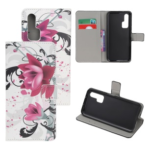 Pattern Printing Flip Leather Wallet Stand Case for Huawei Honor 20 Pro - Kapok