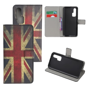 Pattern Printing Flip Leather Wallet Stand Case for Huawei Honor 20 Pro - UK Flags