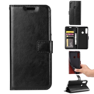 Crazy Horse Leather Wallet Case for Huawei P Smart Z - Black
