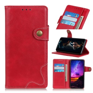 For Huawei P20 lite (2019), S Shape Wallet Leather Protection Phone Cover - Red