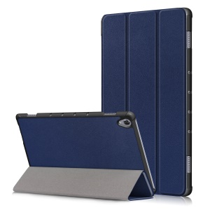PU Leather Smart Case with Tri-fold Stand for Huawei MediaPad M6 10.8 inch (2019) - Dark Blue