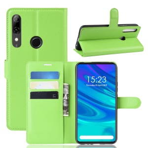 Litchi Texture Wallet Leather Phone Cover for Huawei Honor 9X (Global)/P Smart Z / Y9 Prime 2019/ Enjoy 10 Plus - Green