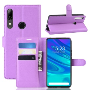 Litchi Texture Wallet Leather Phone Cover for Huawei Honor 9X (Global)/P Smart Z / Y9 Prime 2019/ Enjoy 10 Plus - Purple