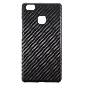 Carbon Fiber Leather Coated PC Shell for Huawei P9 Lite / G9 Lite - Black