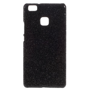 Glitter Sequins Leather Coated PC Protective Case for Huawei P9 Lite / G9 Lite - Black