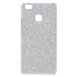 Glitter Sequins Leather Coated PC Protective Cover for Huawei P9 Lite / G9 Lite - White